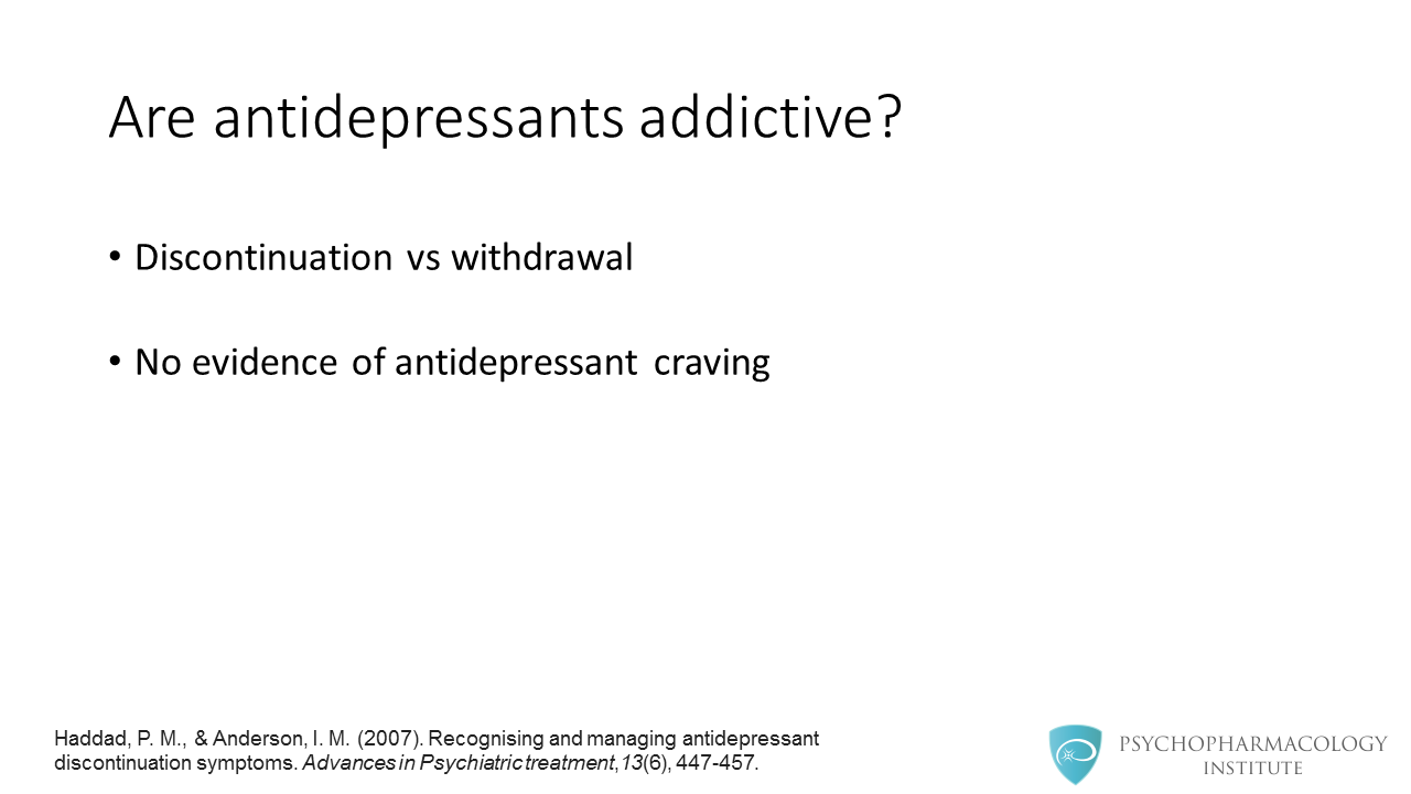 Antidepressant Discontinuation Syndrome: Diagnosis